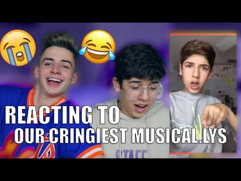 REACTING TO OUR OLD MUSICAL.LYS W/ BRUHITSZACH