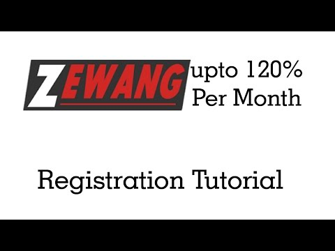 Zewang Help How to register an Account Tutorial
