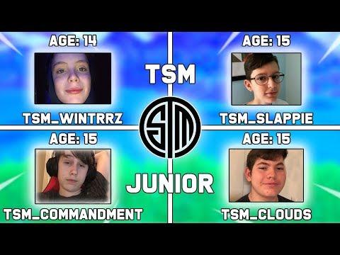 Meet Tsm's New Fortnite Junior Team! (Wintrzz, Slappie, Commandment, & Clouds) Highlights