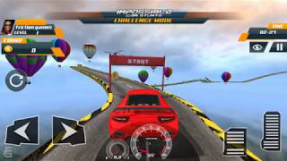 Crazy Racing Extreme Car Tracks 3D - Impossible Car Stunts | Android Gameplay | Friction Games