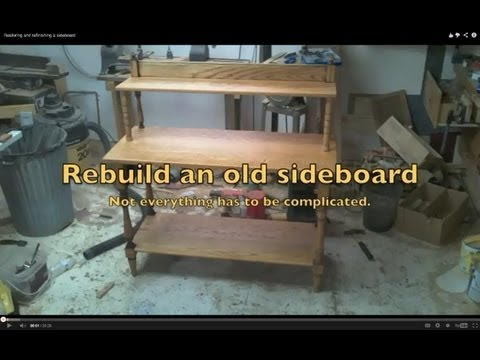 Restoring and refinishing a sideboard