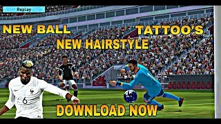 PES 2019 NEW PATCH 2.3.3 WITH NEW TATTOO'S,NEW BALL AND MANY MORE.( PES MOBILE )
