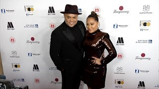 Israel Houghton and Adrienne Bailon 2018 EBONY Power 100 Gala Red Carpet