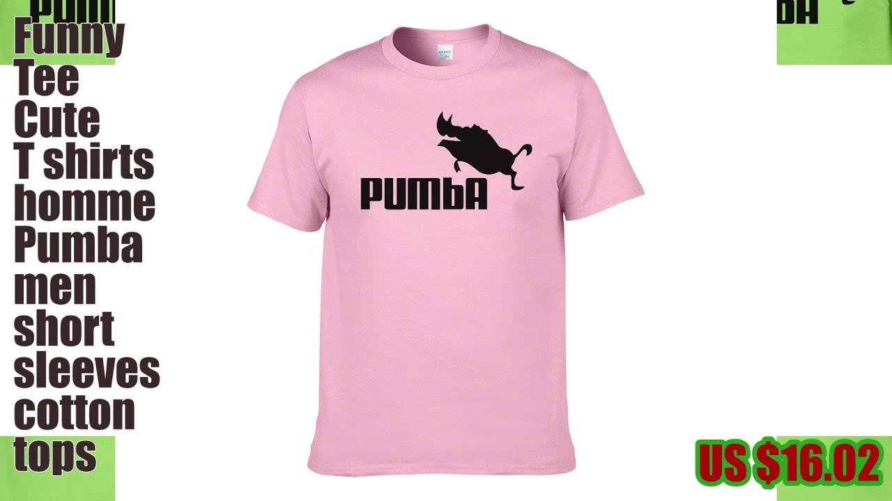 b4c71a2ed Funny tee cute t shirts homme Pumba men short sleeves_hofago.com ...