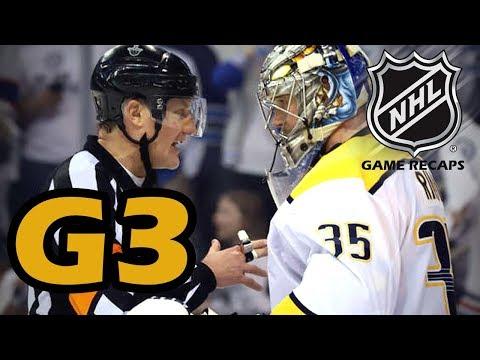 Nashville Predators vs Winnipeg Jets. 2018 NHL Playoffs. Round 2. Game 3. 05.01.2018. (HD)