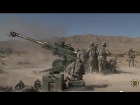 U.S. Army Artillery - M777 155mm Howitzer Live Fire Exercise