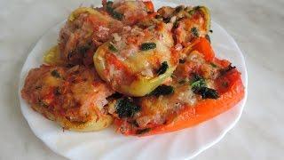 Фаршированный перец в духовке. Stuffed peppers in the oven.