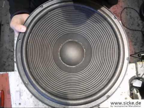Geithain RL 901K Lautsprecher Bass Reparieren Sicke