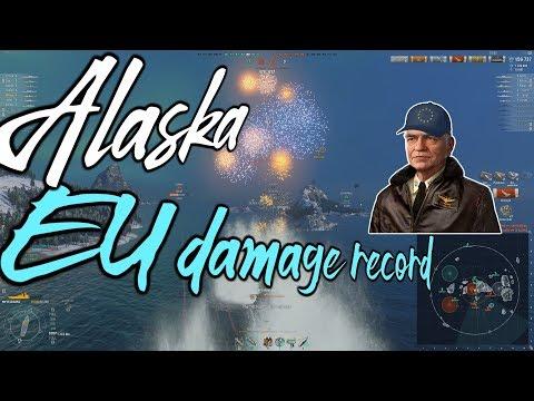281k Alaska EU damage record w/ Halsey x2 strike + 6 kills || World of Warships