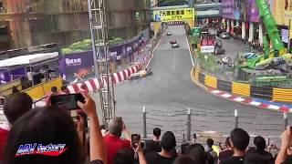 Sophia Floersch Big Crash 2018 F3 Macau GP