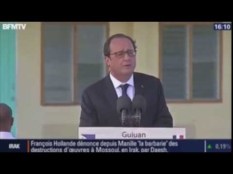 François Hollande fails at speaking english
