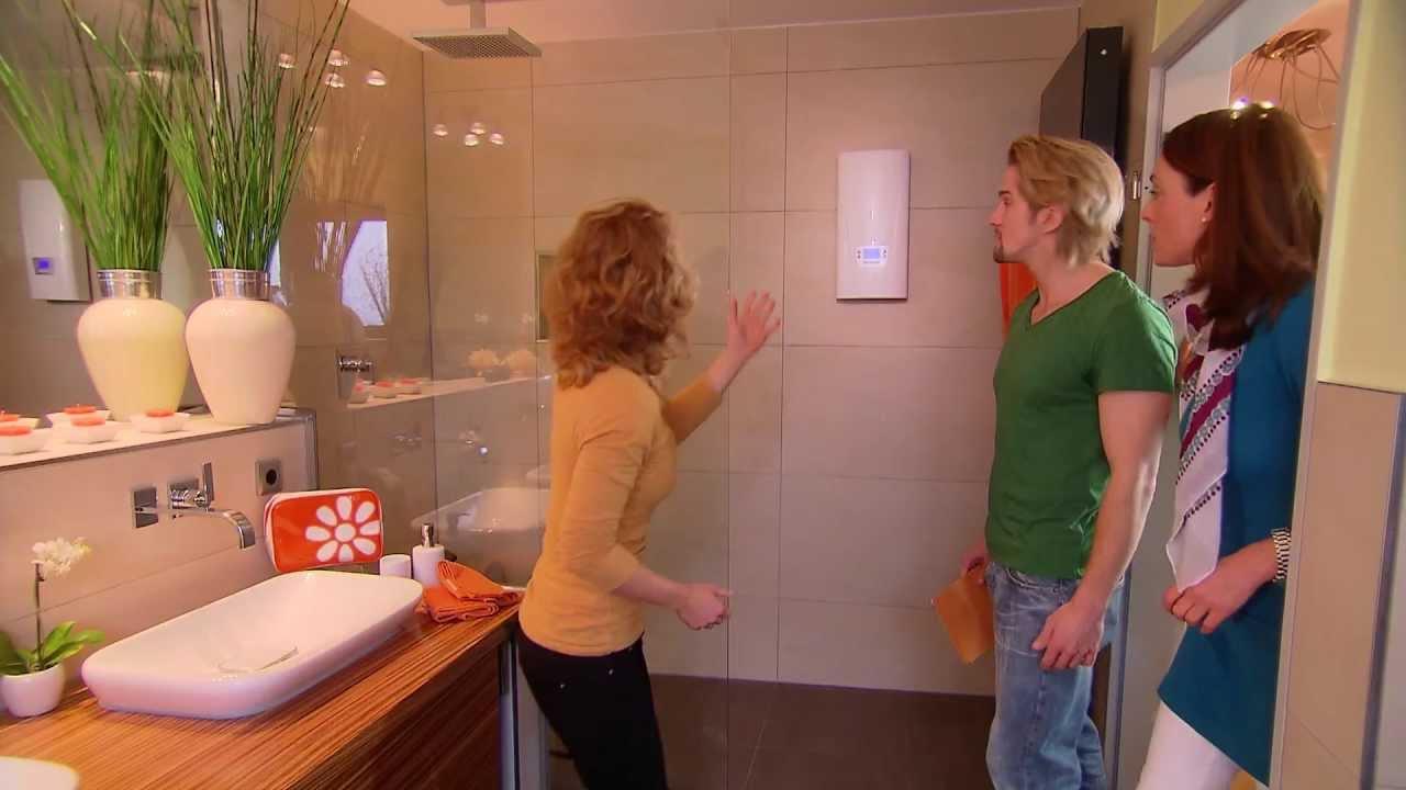 elektronischer durchlauferhitzer sorgt zuverl ssig f r warmes wasser im bad youtube. Black Bedroom Furniture Sets. Home Design Ideas