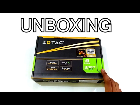 [HINDI] - ZOTAC NVIDIA GEFORCE GT 730 2GB DDR5  UNBOXING & REVIEW....