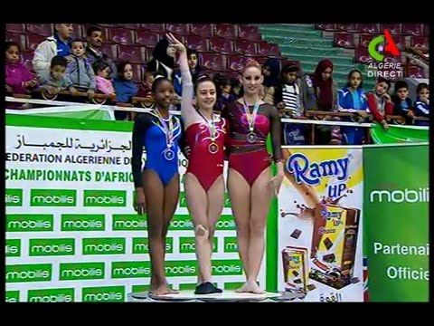 Nada Ayman (EGY) 2016 African Championships Gold medal ceremony  EF BB