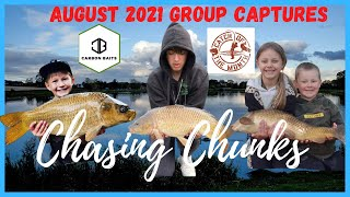 CARP FISHING CHASING CHUNKS AUGUST 2021 CARP FISHING GROUP CAPTURES WITH CARBON BAITS GIVEAWAY