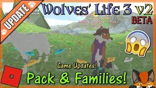 Roblox - Wolves' Life 3 v2 BETA - Pack & Families! #40 - HD