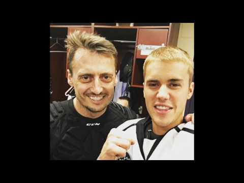 Justin Bieber - Backstage - NHL Celebrity Shoot-Out - California - Video/Photo - January 28, 2017