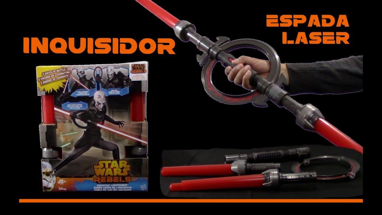 Español Star Espada Del Hasbro Inquisidor Wars Juguetes Láser F1JcKl