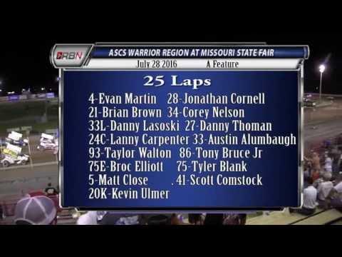 Feature ASCS Warrior Region State Fair Speedway