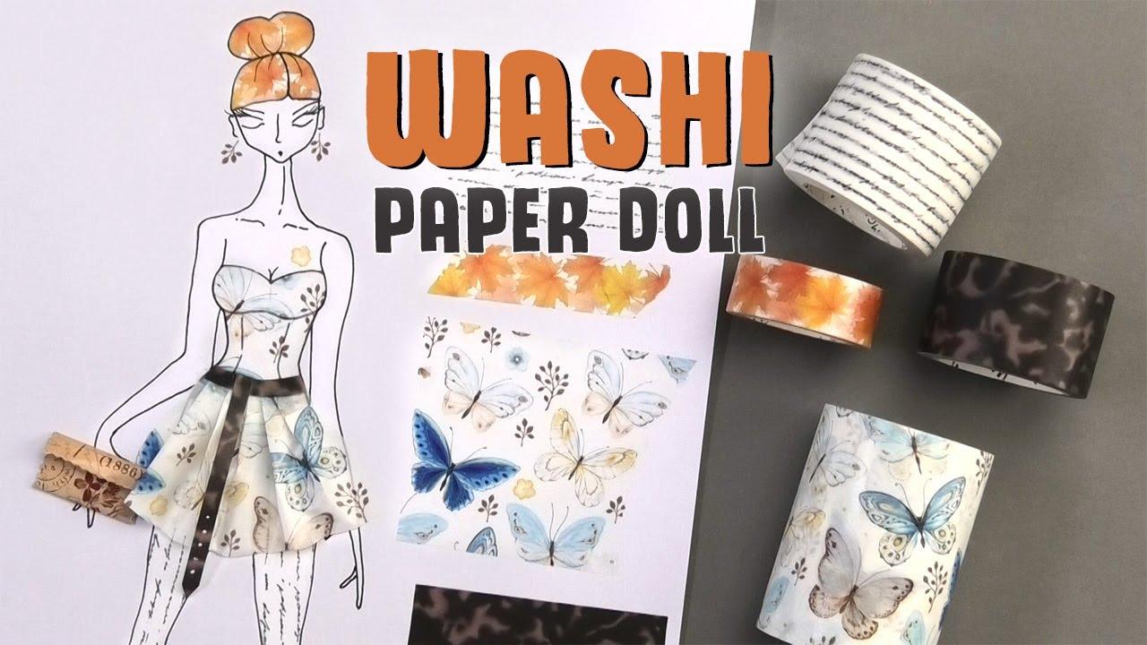 Washi Woman paper doll