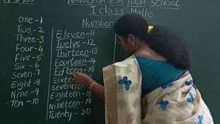 19 - 6 -2020  I CLASS :MATHS (NUMBER NAMES)