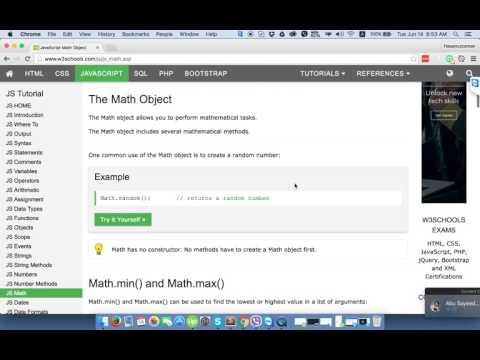 Math, Random Number, Round, Max, Min