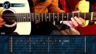 """Cómo tocar """"The Reason"""" de Hoobastank en guitarra acústica (HD) Tutorial - Hablobajito"""