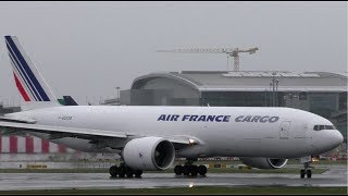Air France Cargo Boeing 777F Wet Take Of at Dublin Airport