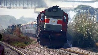 Fast Diesel Trains : Aggressive Diesel Monsters Rule this Section : Indian Railways