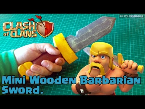 Mini Wooden Barbarian Sword from Clash of Clans