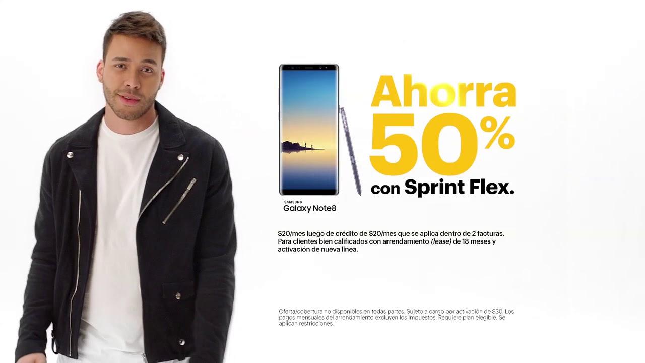 Ahorra 50% en el nuevo Samsung Galaxy Note8 con Sprint Flex