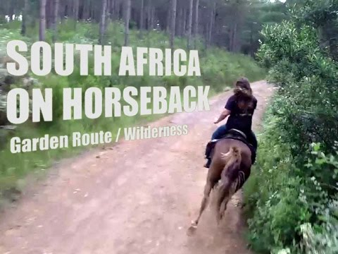 Horse riding in South Africa: Garden Route / Wilderness (GoPro)