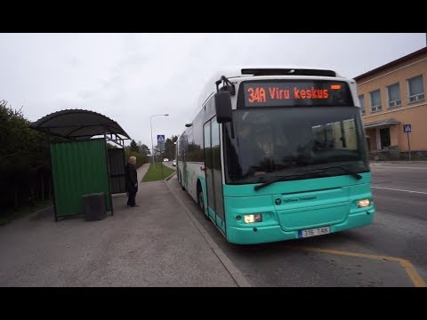 Estonia, ride with bus No 34A from Tallinn TV Tower to Viru keskus 5