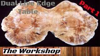 Live Edge Coffee Table - Dual Maple logs Part 1