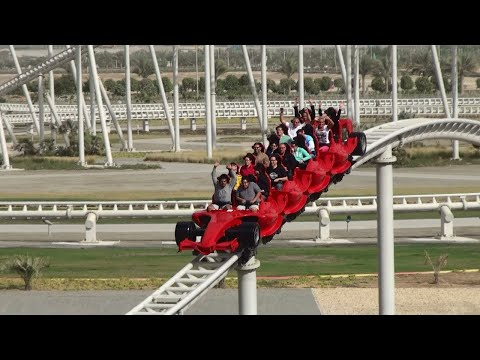 Ferrari World | Fastest Roller Coaster In The World in new year eve 2021 | ABU DHABI |