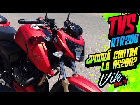 La nueva 200cc de India RTR 200 Apache TVS Review / Motovlog