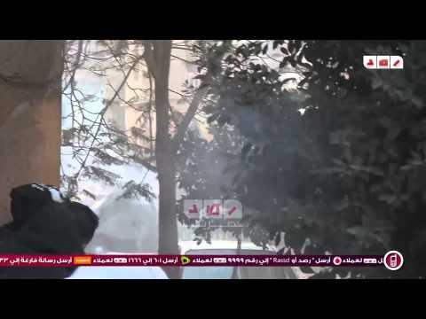رصد | لحظة انسحاب مدرعة الداخلية من امام متظاهري حلوان