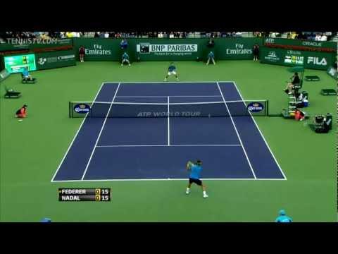 (HD)Roger Federer vs. Rafael Nadal highlights - Indian Wells 2012
