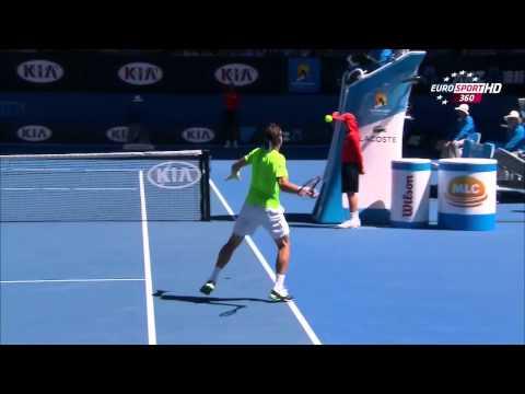 David Ferrer Vs Thomas Berdych Australian Open 2014 1/4 1 Set/First Set 720 HD