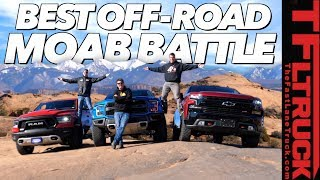Three New Trucks - One Epic Off-Road Comparison: 2019 Ford Raptor vs Chevy Trailboss vs Ram Rebel!