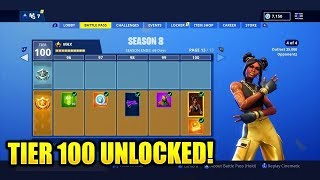 *UPDATED* How To Get MAX Tiers (Tier 100) In Fortnite Season 8 For FREE! - Max Battle Pass
