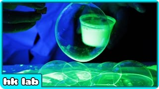 Glow In The Dark Bubbles Science Experiment By HooplaKidz Lab