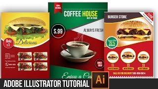 "Tutorials | ""Professional Coffee Poster Design""  [Adobe Illustrator/Photoshop CC] 