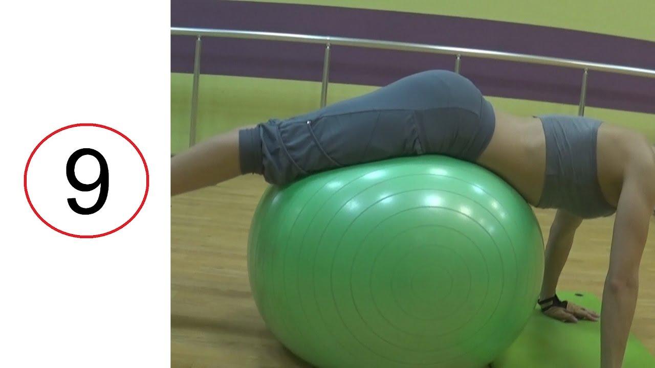 Бьют по женской попе мячом в спортзале фото 709-235