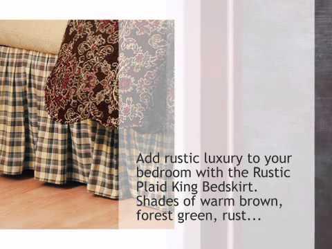 Rustic Plaid Bedskirt King Lonestarwesterndecor Com Youtube