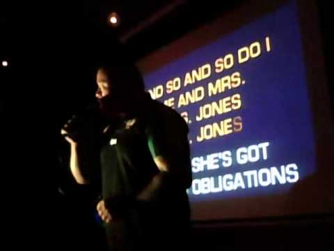 Karaoke Thursday, Collingwood Hotel, Liverpool. 7.30pm-11.30pm. Andros sings: Me and Mrs Jones