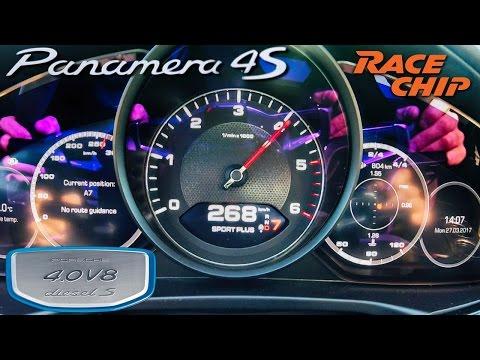 Porsche Panamera 4S Diesel 505 HP RaceChip ACCELERATION 0-250 km/h by AutoTopNL