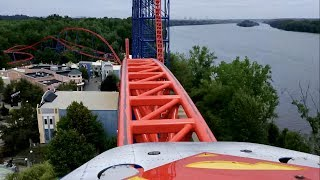 Superman the Ride Front Seat POV 2017 FULL HD Six Flags New England