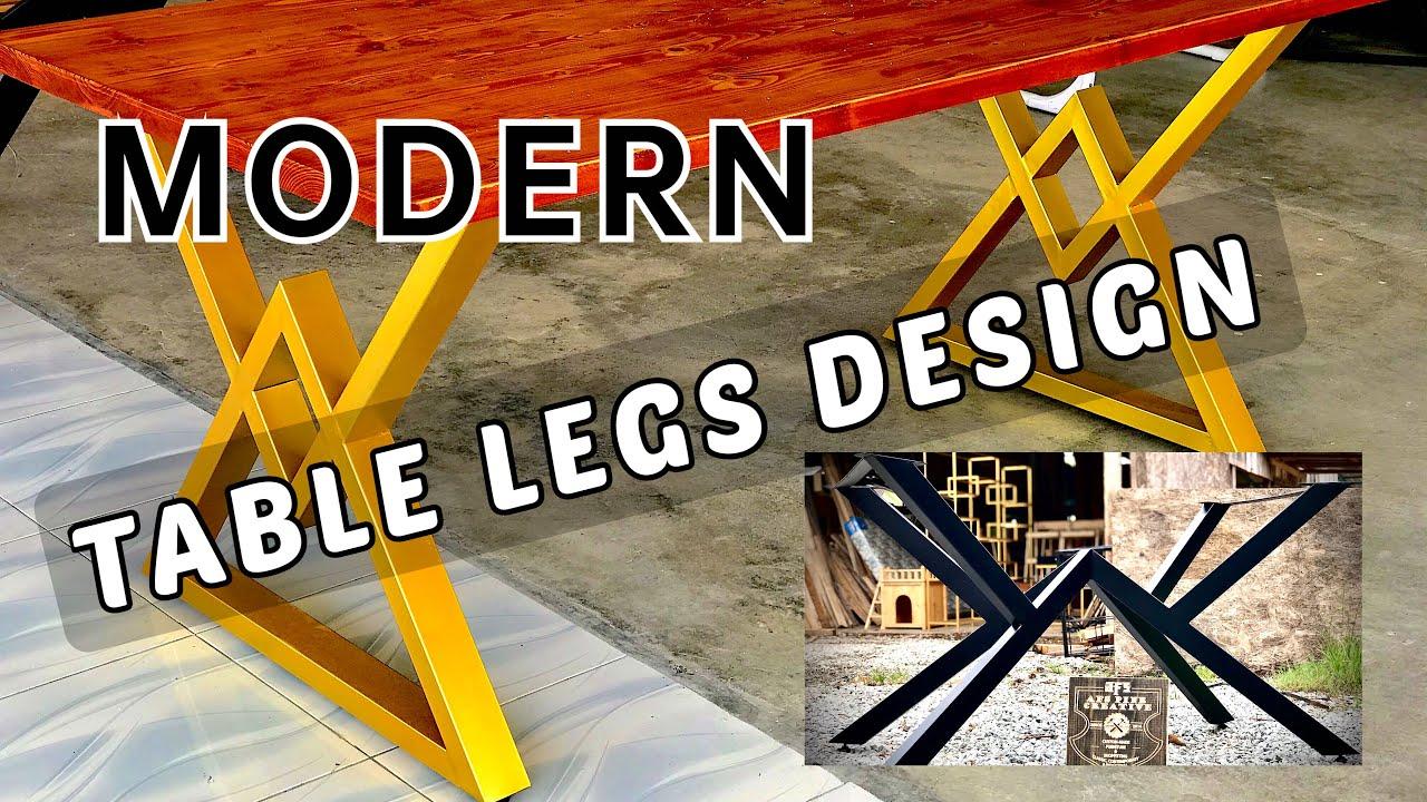 industrial metal table base ideas modern design furniture