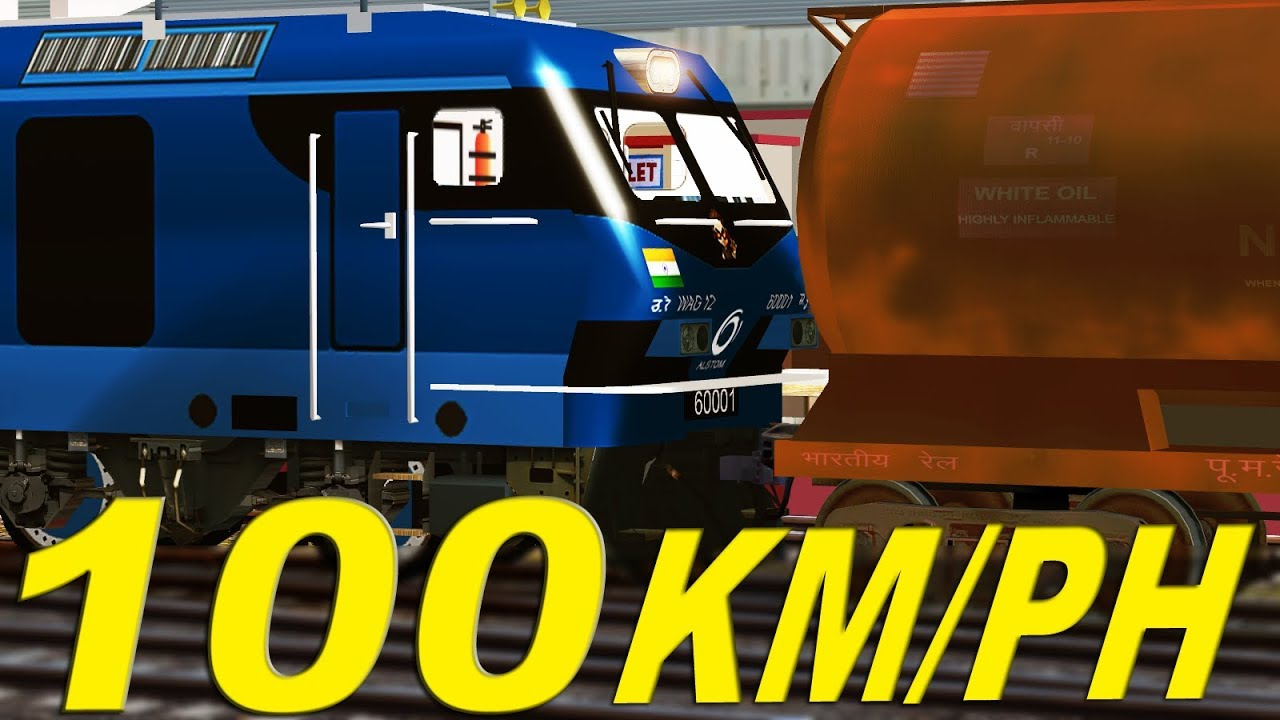 Testing of WAG 12 with FREIGHT RAKE | 100 KM/PH in few minutes | MSTS Open  Rails
